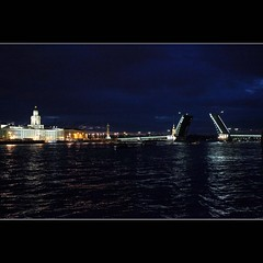 White Night (JannaPham) Tags: trip bridge blue vacation white saint night canon river eos russia petersburg 5d neva markii       project365  100365 jannapham