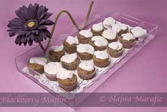 Blackberry Muffin (Najwa Marafie - Free Photographer) Tags: cakes by dessert cupcakes day blackberry made cupcake muffin 2009 najwa nstudio marafie nstudiolivecom
