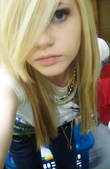 How do I look? (Kon_Art) Tags: hot girl pretty blueeyes emo chick blond