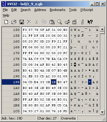 Hex editor - after