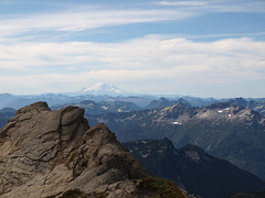 Rainier and Spire Mountain From Kyes
