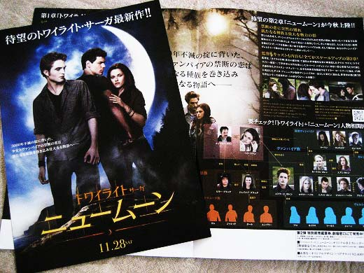 Advance tickets for The Twilight Saga: New Moon and the flyers  part 2