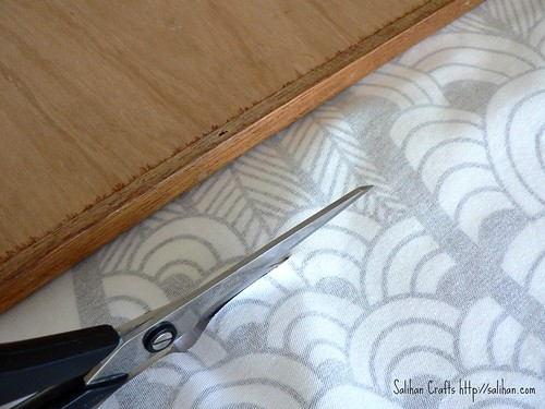 2. Cut Ikea fabric remnant