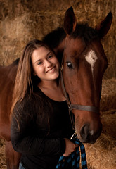 Senior Portrait with Horse in La Selva, CA