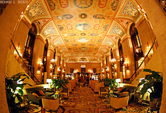 The Palmer House Hilton - Chicago (Richard E. Ducker) Tags: house fish chicago eye hotel illinois loop hilton palmer fisheye the