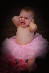 i'm so sick of this! (peg's PIX) Tags: portrait ballerina babygirl 1yearold pinktutu