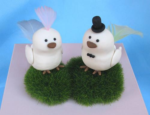 Funny birdies wedding cake toppers - Uccellini per torte nuziali