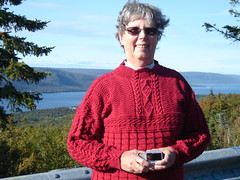 Jane Stringer - finished on the trip (Denver Knitter) Tags: canada nova scotia kal