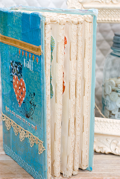fall mini book edge binding