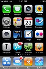 My iPhone home screen