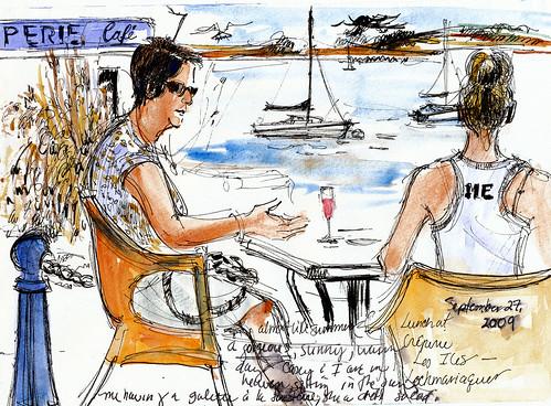 Lunch in Locmariaquer, Golfe du Morbihan
