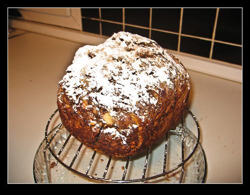 Pan dulce de chocolate y almendras-1