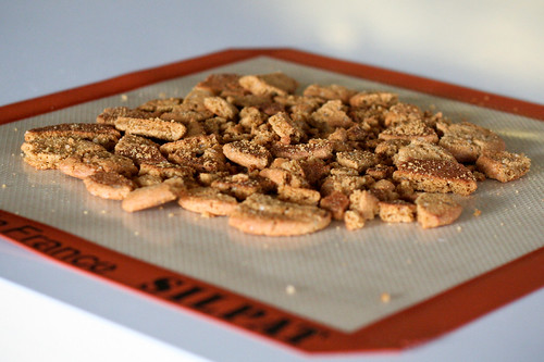 Salted Gingersnap & Hazelnut Bark
