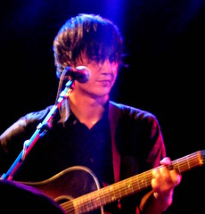 San Francisco's The Dodos lead singer and guitar player Meric Long plays Bimbo's 365 for the last show before a European tour.  Photo by Elizabeth Castro/Foghorn