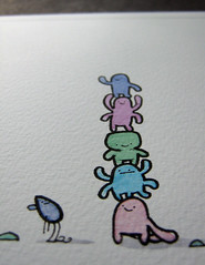 Good morning close (Cornish Knockers) Tags: urban monster giant happy sweater cornwall character magic pixie kawaii watercolour jumper goodmorning creature legend greeting scruff pasty piskey trencrom cornishknockers