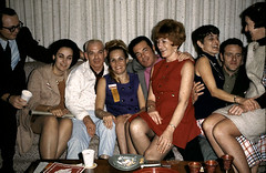 1969 men women vintage photo party 1960s (Christian Montone) Tags: party men women group 1960s bouffant vintageimages vintagephotos partyphotos socialgatherings 1960sfashions