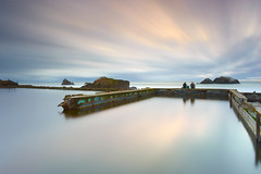 Apparitions at Dusk - Sutro Baths, San Francisco (PatrickSmithPhotography) Tags: ocean sanfrancisco california longexposure travel vacation sky cloud seascape water pool rock photoshop canon landscape geotagged ruins scenery pacific ghost explore sutrobaths 5d ghosts hoya mkii cliffhouse 1740l 1897 explored captureone leefilters canon5dmkii 5dmkii