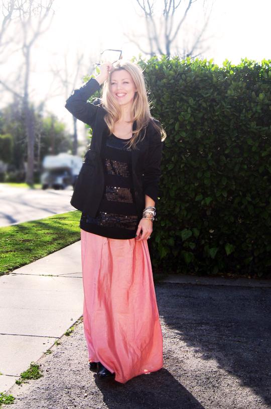 long skirt black blazer-7 contrast pp