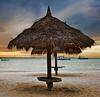 Aruba - Palm Beach Coast (DiGitALGoLD) Tags: ocean sunset sky umbrella hotel nikon aruba palmbeach d3 caribbeansea 2470mm arubasunset tikkihut papiamento digitalgold hyattaruba palmbeachcoast