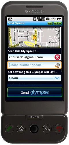 Glympse on G1
