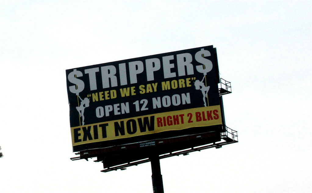 """""""need we say more"""" (trixiebedlam) Tags: georgia tripper ontheroad  strippers"""