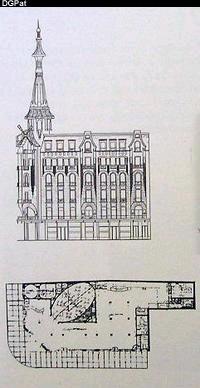 La façade de la Confiteria del Molino sur l'avenida Callao à Buenos Aires
