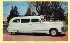 1947 Flxible Buick Ambulance (aldenjewell) Tags: buick postcard ambulance 1947 flxible