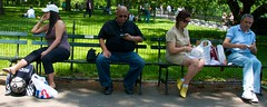 bench centralpark cellphone ephemeralartifacts culturalbehavior