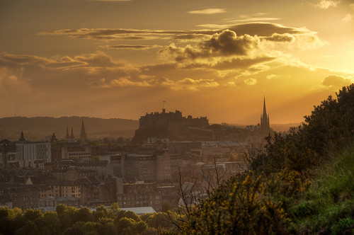 Edinburgh Castle at Sunset HDR