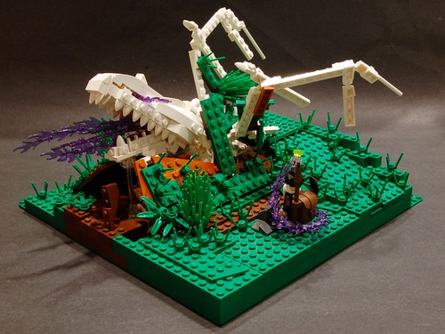 LEGO necromancer and dragon