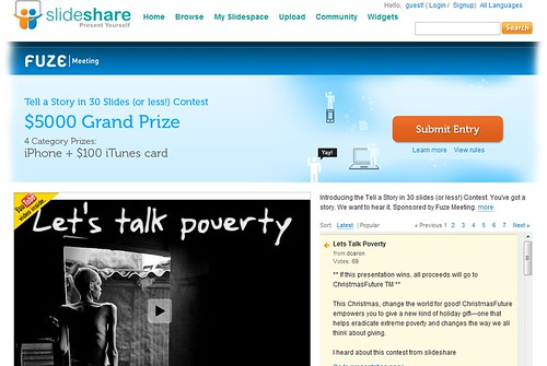 Tell A Story in 30 Slides: SlideShare Contest