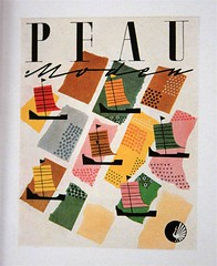pfau (allerleirau) Tags: illustration vintage advertising design pattern fifties graphic ships ad grafik retro 50s 1952 midcentury moden pfau gebrauchsgraphik