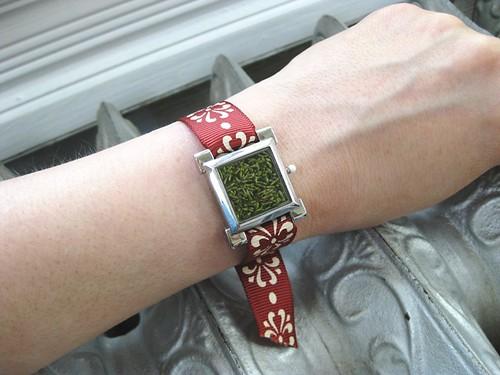 terrarium moss watch bracelet