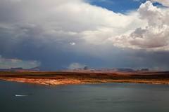 May 29 - Cruising Lake Powell (J K Johnson) Tags: road trip travel light arizona sky usa lake storm color water beautiful sunshine rain clouds us interesting colorful desert dramatic roadtrip page powell thunderstorm geology traveling navajo geological jimjohnson jkjohnson