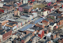 looking over OTR's Findlay Market (by: KCgridlock via Skyscaper Page)