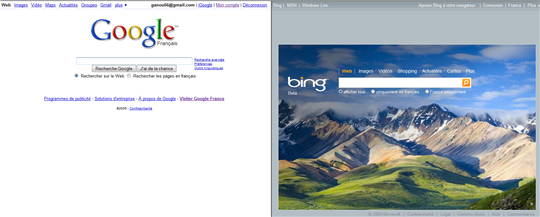 google + bing