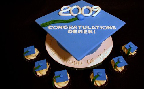 Graduation Cake - Mortarboard