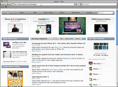 Safari 4 - Mac OS X 10.5