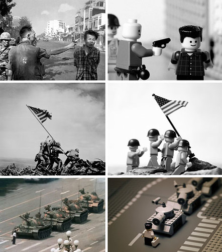 Famous photos/news events in lego