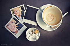 sunday afternoon (DavidSciora) Tags: pictures ireland portrait dublin woman coffee table polaroid sugar isabel sciora