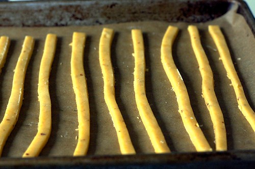 cheese straws, ready to bake