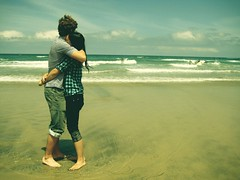 Day sixty two. (celeste li) Tags: ocean sky cute love beach jeff water beautiful clouds sand hug couple day waves sandiego adorable sunny dating beatrice