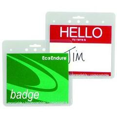Biodegradable Badge Holder (univenture) Tags: clear badge conference nametag meetings organize biodegradable lanyard polypropylene univenture