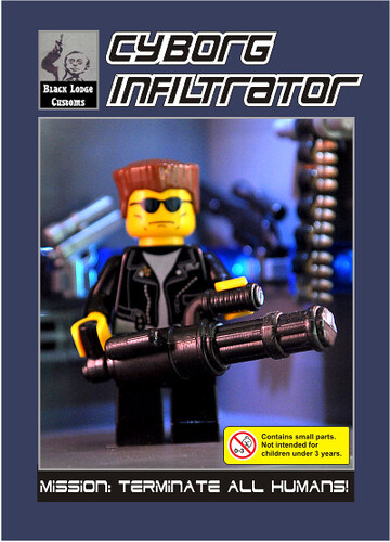 Cyborg Infiltrator Custom minifig for Brickworld 2009