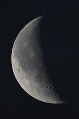 Waning Moon @ 1000mm (markkilner) Tags: england moon photoshop canon eos kent crescent telescope crater astronomy southeast dslr lunar manualfocus vixen skynight broadstairs libration refractor registax 1000mm kilner skytelescope 40d oursolarsystem Astrometrydotnet:status=failed cloudynights sp102 avistack astro:subject=moon astro:gmt=20090617t0324 Astrometrydotnet:id=alpha20090619148247