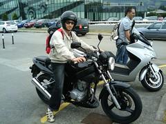 Mi moto y yo