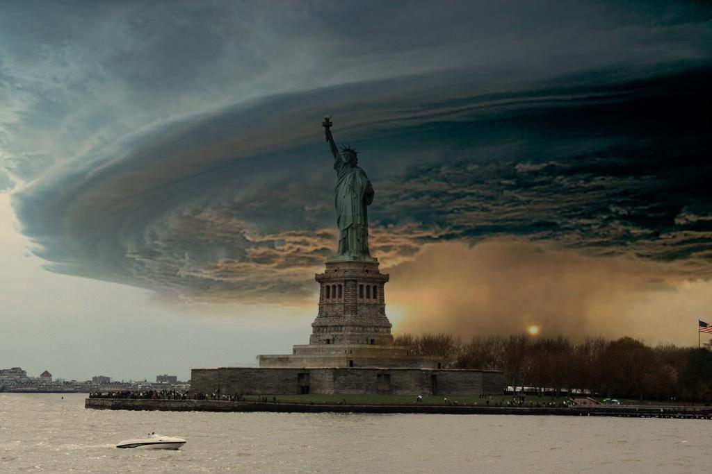 Massive Tornado Hits The Statue Of Liberty: By Bobby Boggs.
