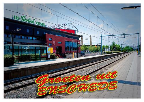 Ansichtkaart Station Drienerloo (voorkant)