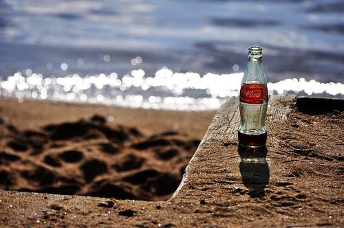 coke on the beach