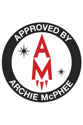 Archie McPhee Rocket Logo iPhone Wallpaper